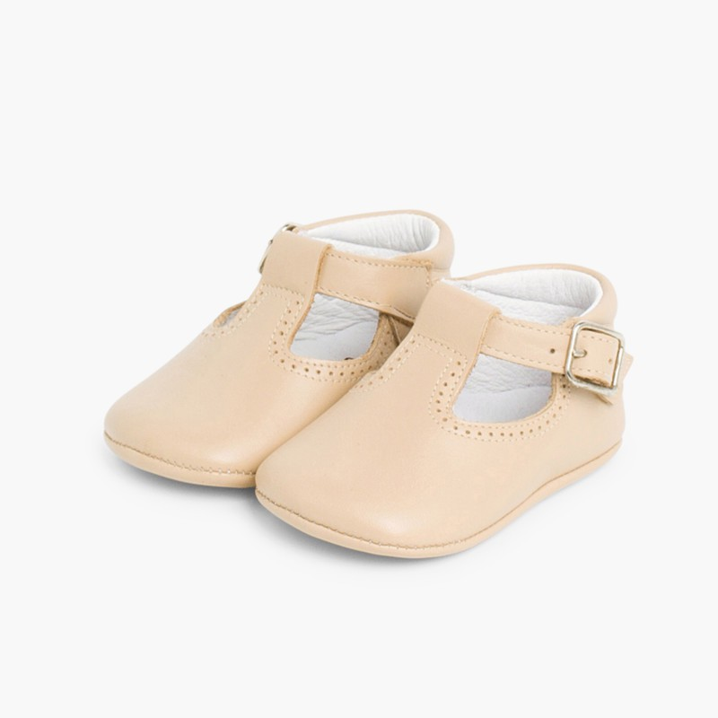 Soft Leather T-Bar Baby Shoes. Cheap baby shoes