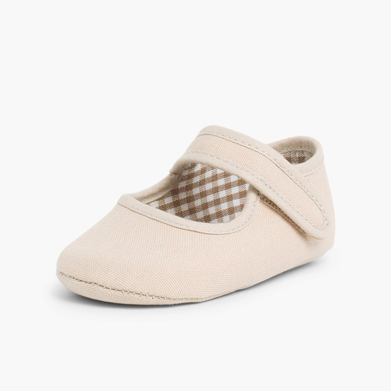 Baby Girl's Canvas Mary Jane Shoes Sand