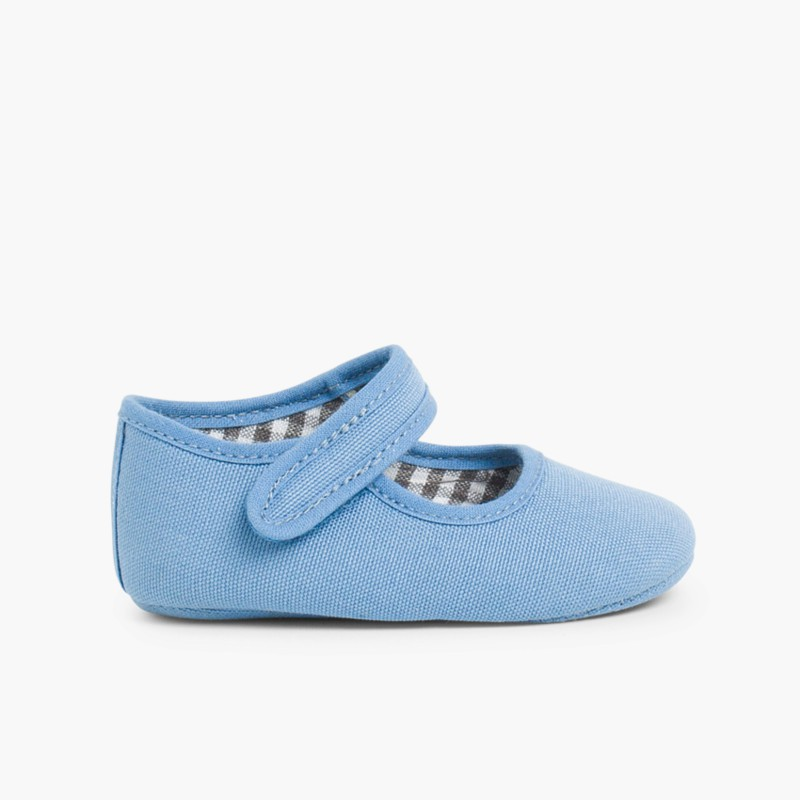 Baby Girl's Canvas Mary Jane Shoes Airforce Blue