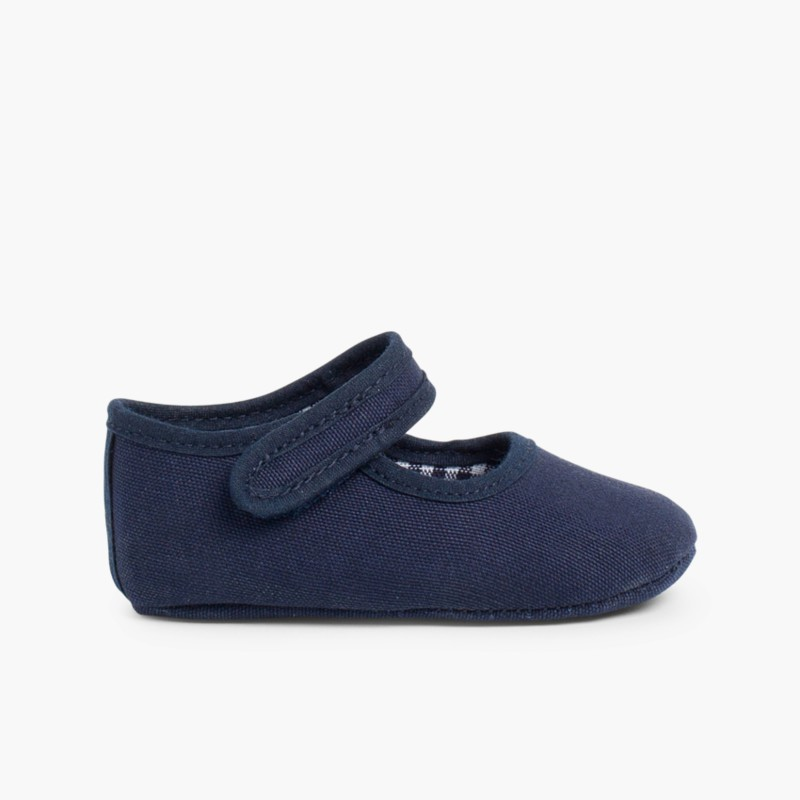 Baby Girl's Canvas Mary Jane Shoes Navy Blue