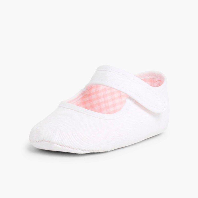 Baby Girl's Canvas Mary Jane Shoes White