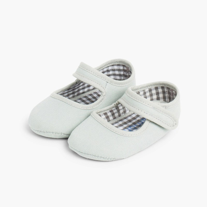 Baby Girl's Canvas Mary Jane Shoes Grey
