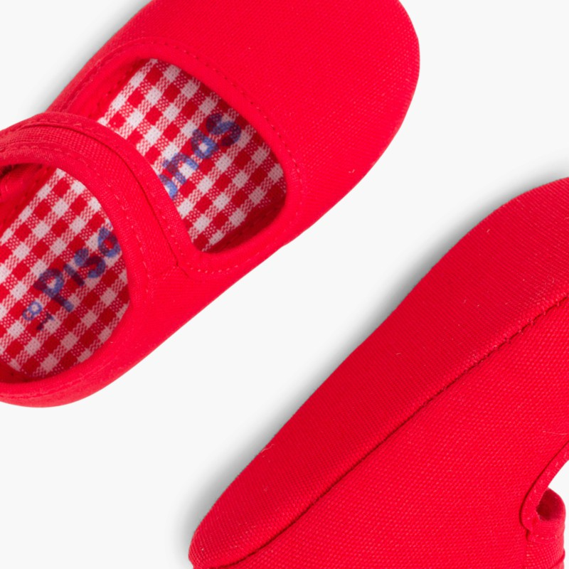 Baby Girl's Canvas Mary Jane Shoes Red