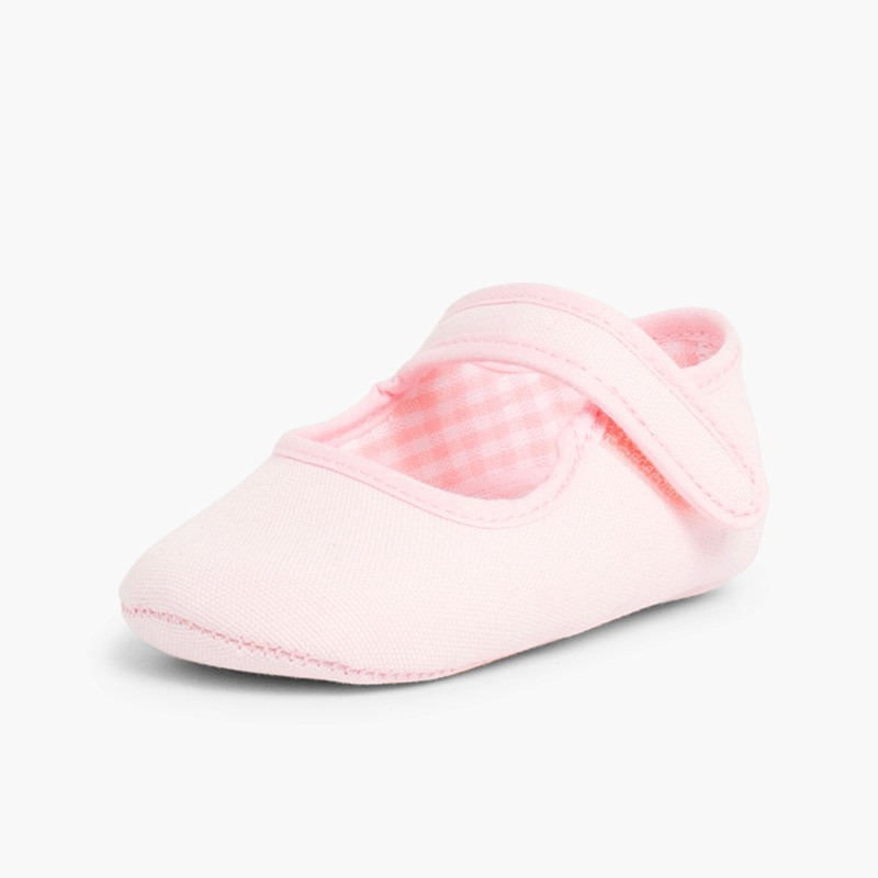 Baby Girl's Canvas Mary Jane Shoes Pink