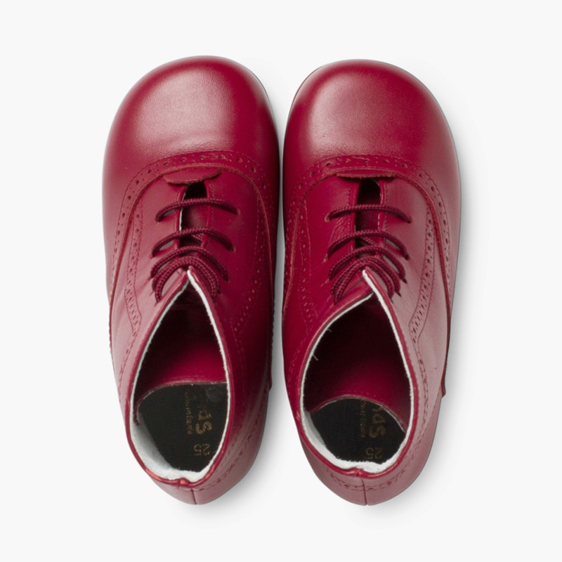 Leather Pascuala Boots Burgundy