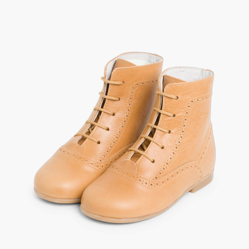 Leather Pascuala Boots Tan