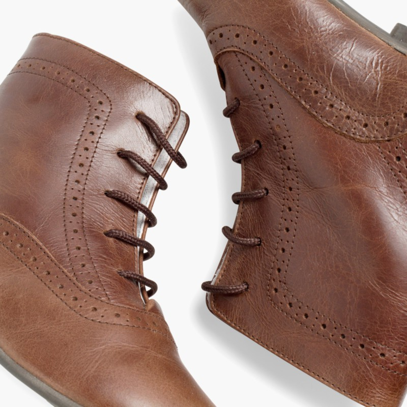 Leather Pascuala Boots Brown