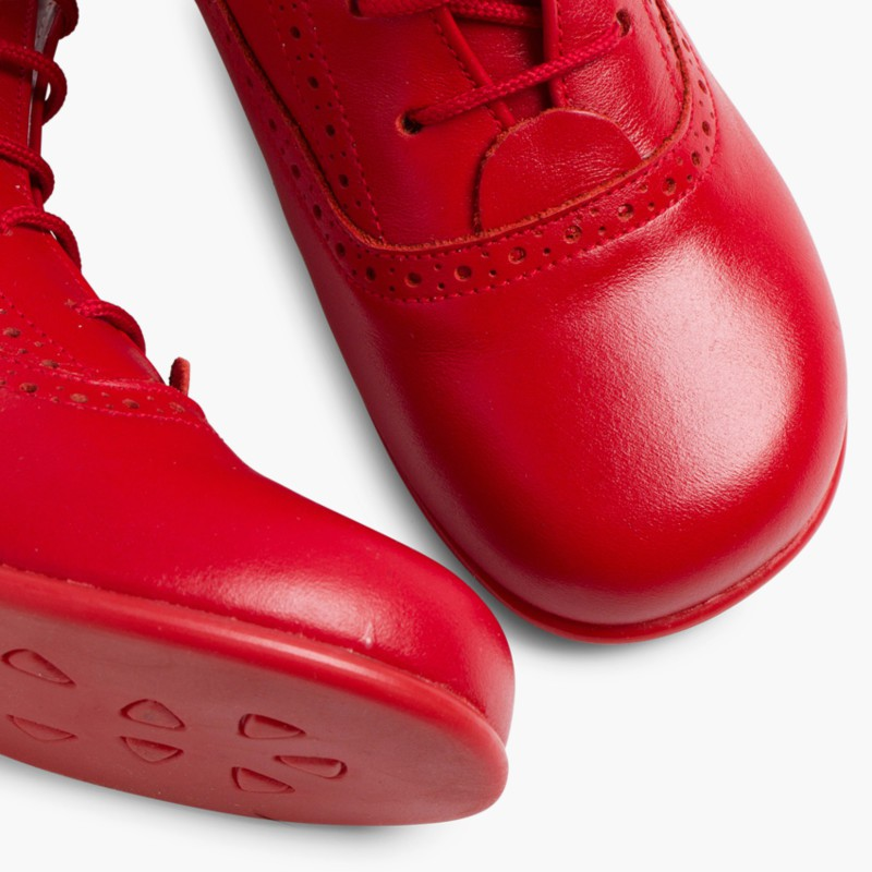 Leather Pascuala Boots Red