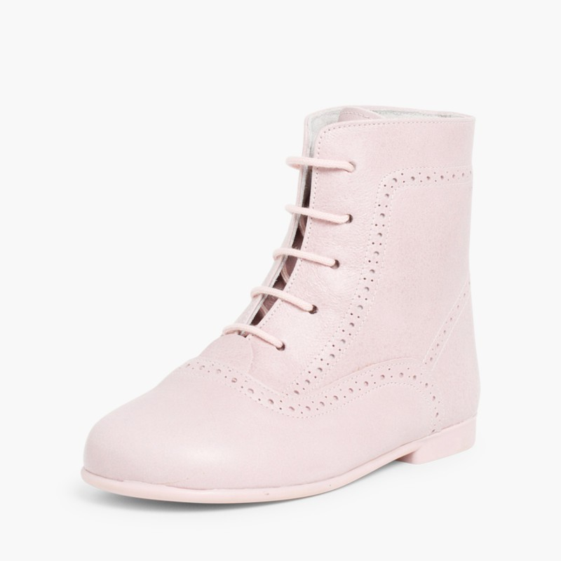 Leather Pascuala Boots Pink
