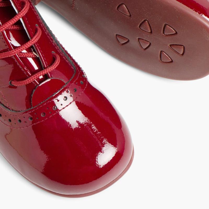Patent Pascuala Boots Burgundy
