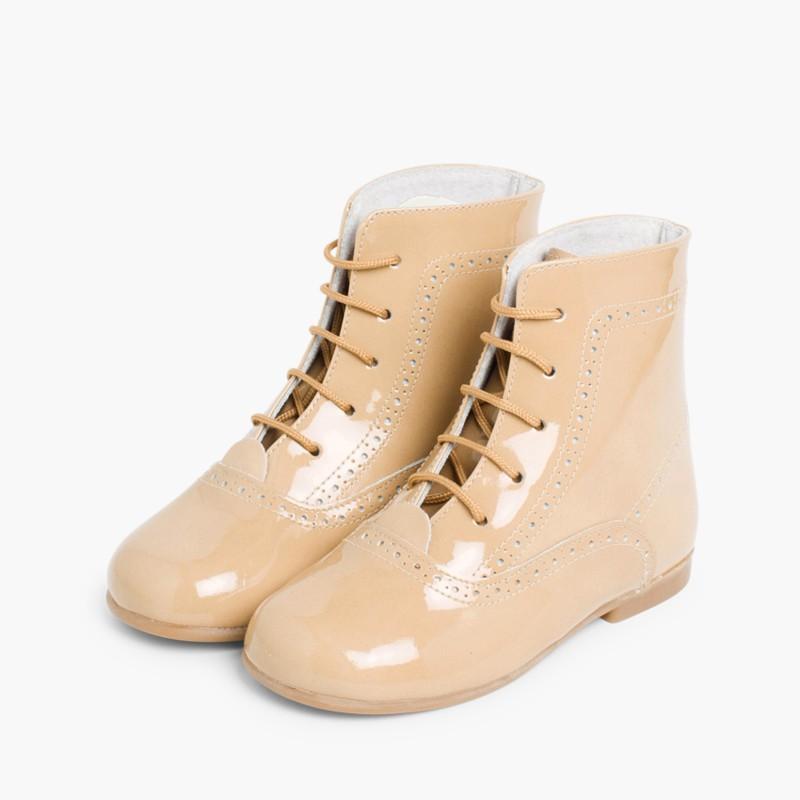 Patent Pascuala Boots Tan