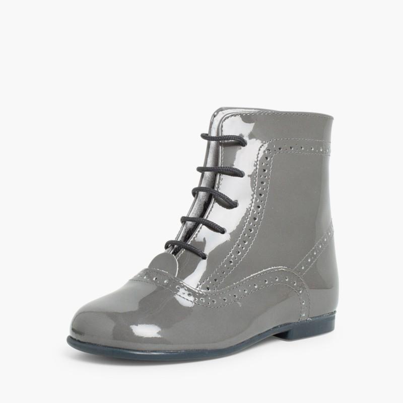 Patent Pascuala Boots Grey