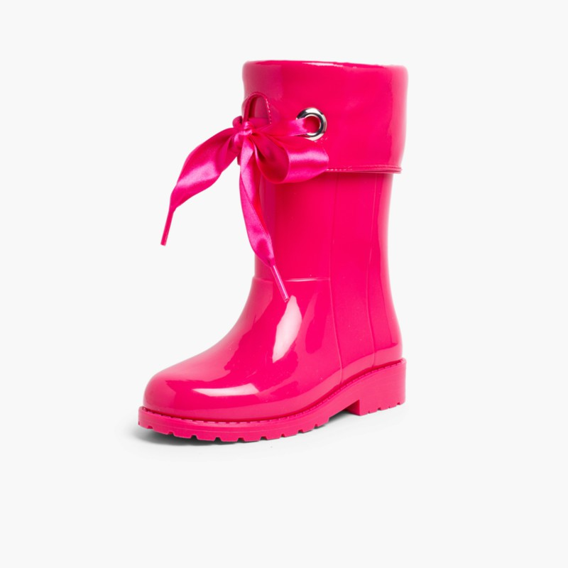 Patent style Wellies for girls by Igor Fuchsia