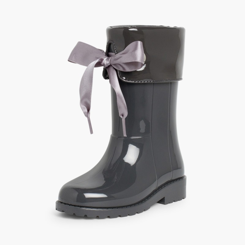 Patent style Wellies for girls by Igor Grey