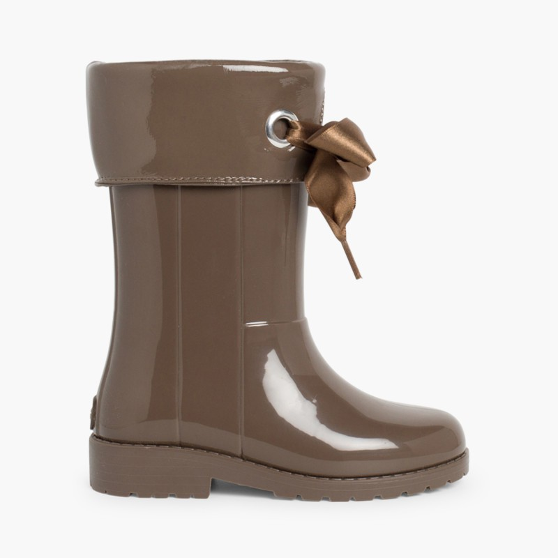 Patent style Wellies for girls by Igor Brown
