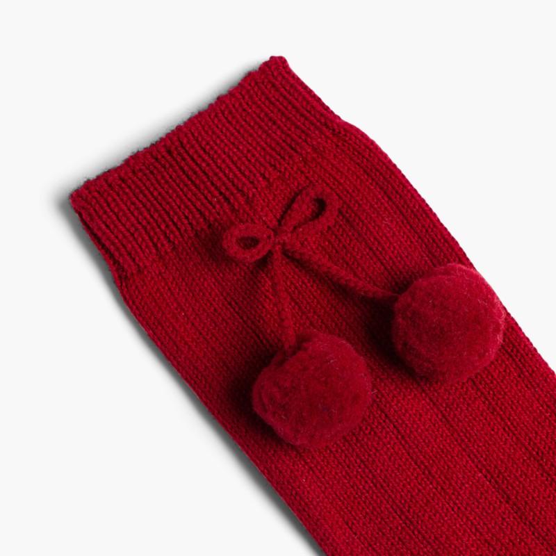 CONDOR Pom Pom Baby Socks Grape