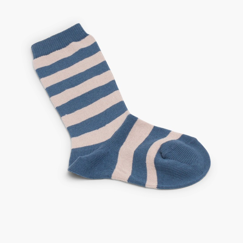 Condor striped high socks Blue