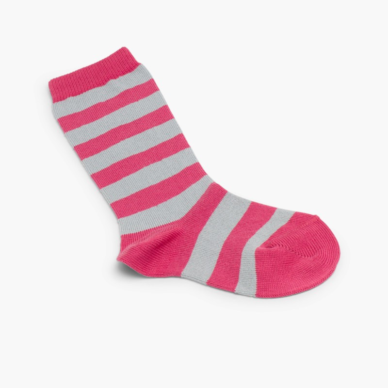 Condor striped high socks Strawberry