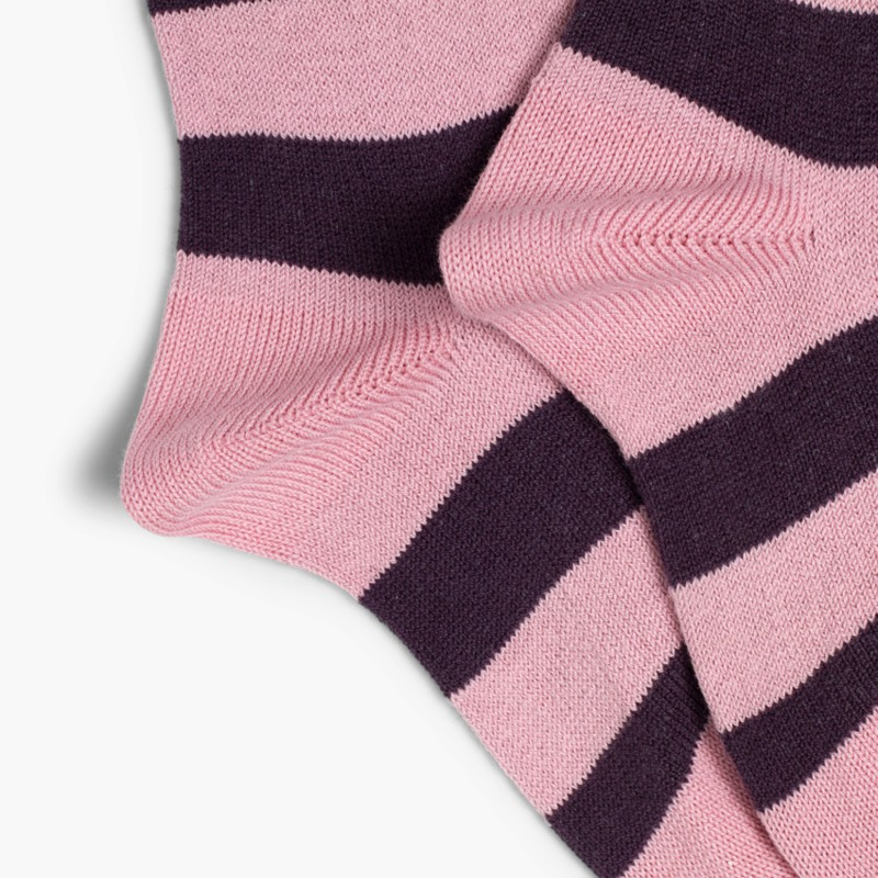 Condor striped high socks Pink