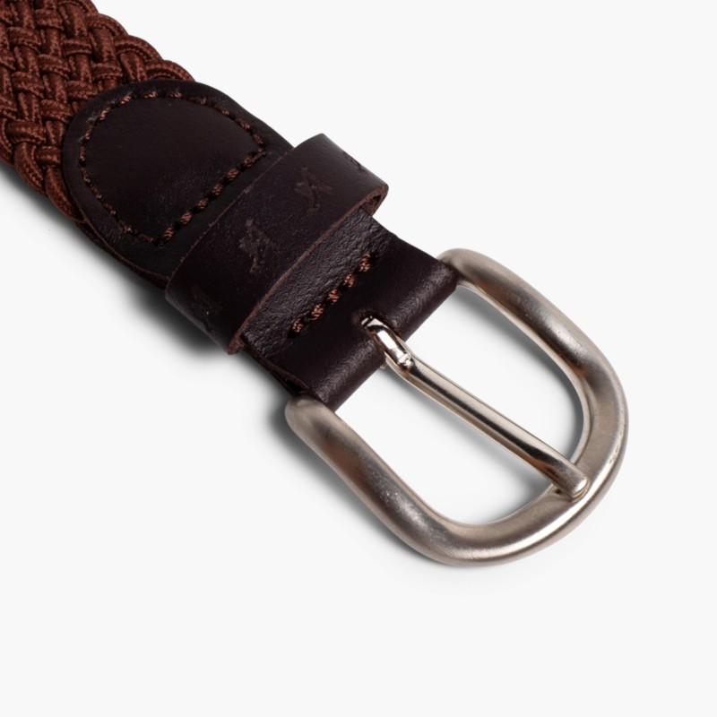 Boy's Elastic Braided Belt Brown