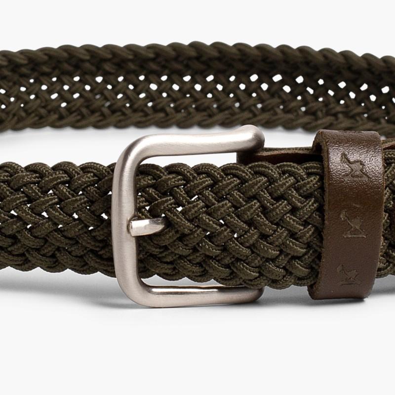 Boy's Elastic Braided Belt Green