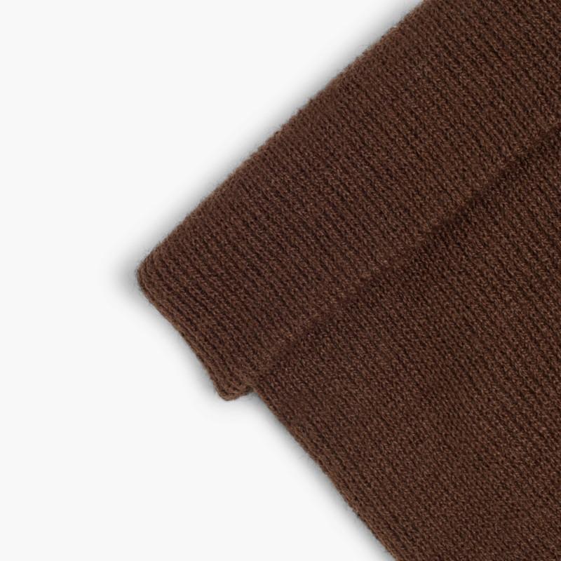 CONDOR Ribbed Beanie 1x1 Brown