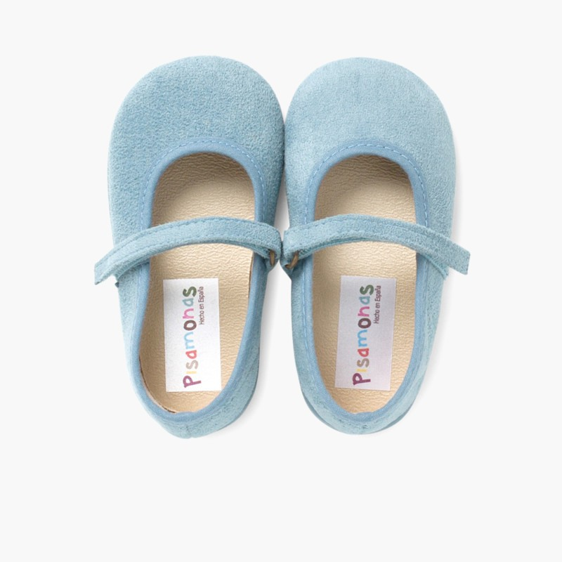 Girl's Riptape Bamara Mary Jane Shoes Airforce Blue
