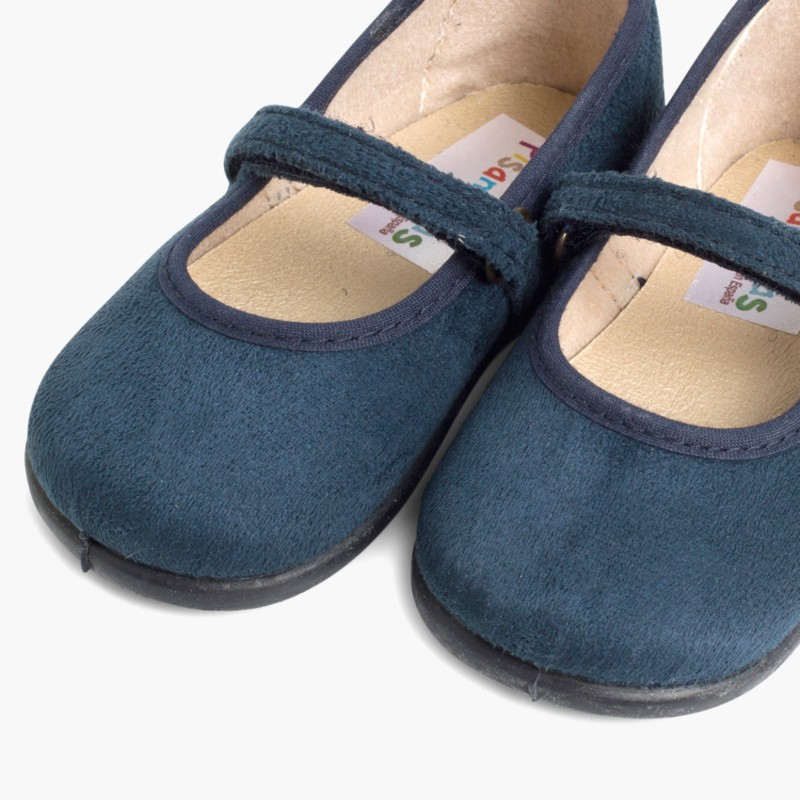 Girl's Riptape Bamara Mary Jane Shoes Navy Blue