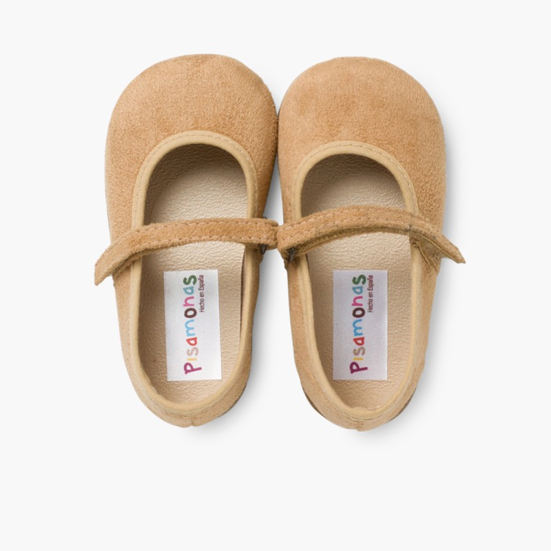 Girl's Riptape Bamara Mary Jane Shoes Tan