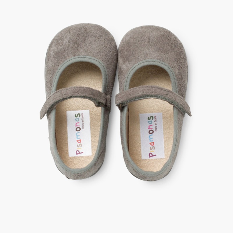 Girl's Riptape Bamara Mary Jane Shoes Grey