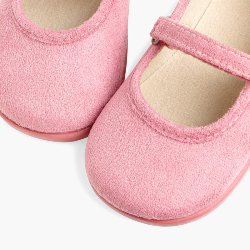 Girl's Riptape Bamara Mary Jane Shoes Pink