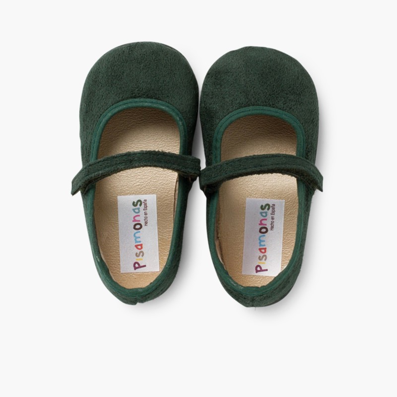 Girl's Riptape Bamara Mary Jane Shoes Green