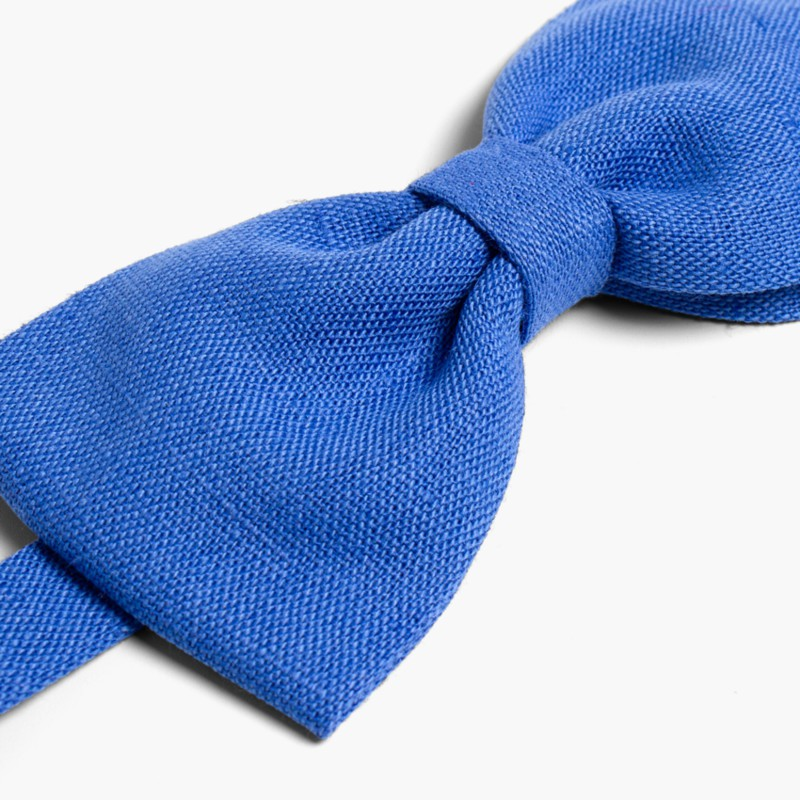 Boys Linen bow tie Deep Blue