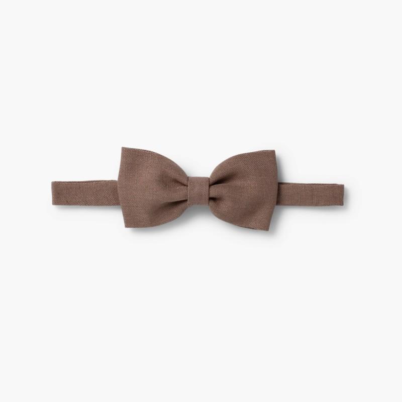 Boys Linen bow tie Beige