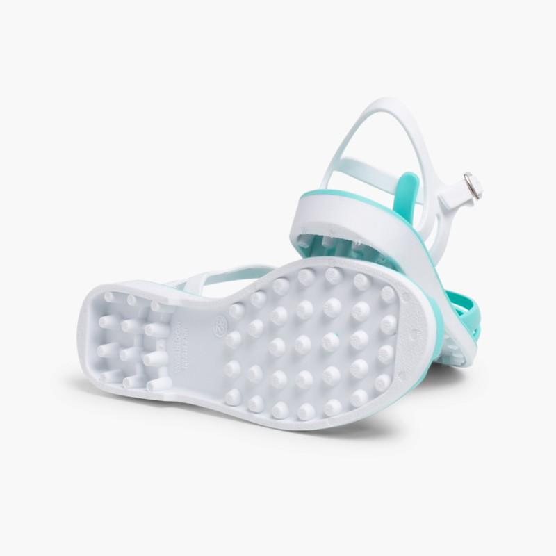 Laida Mini Girls�� Rubber Jelly Sandals Aquamarine