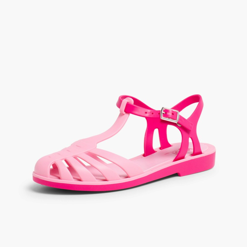 Laida Mini Girls�� Rubber Jelly Sandals Coral