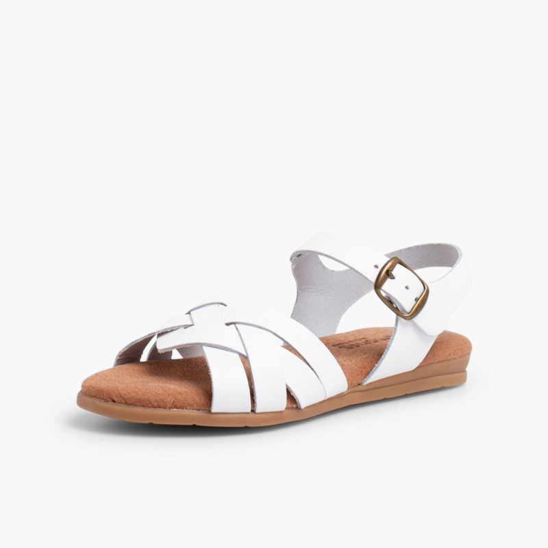 Sandals with Gel Insoles White
