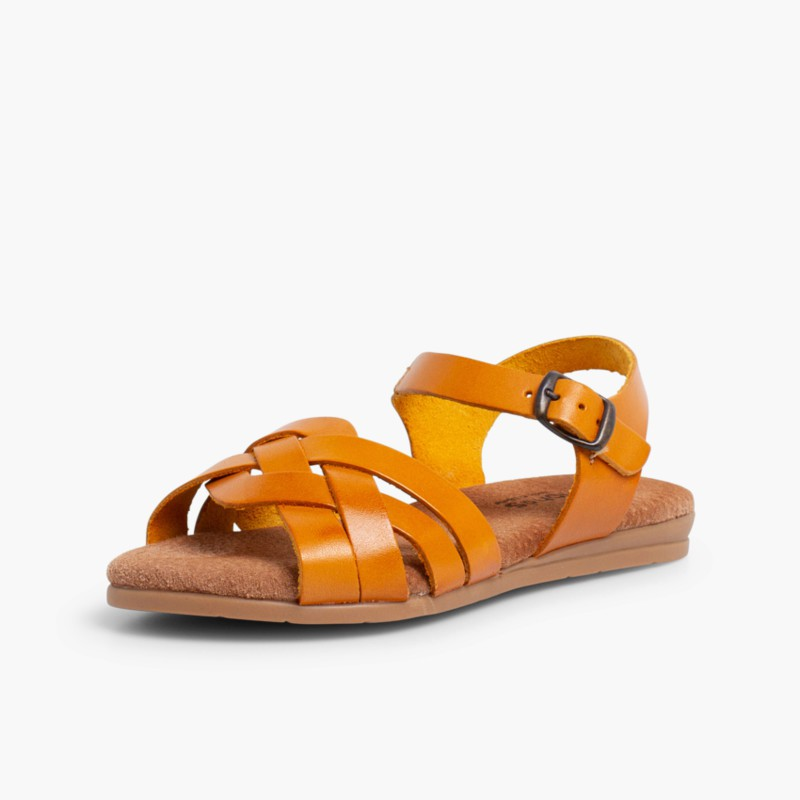 Sandals with Gel Insoles Mustard