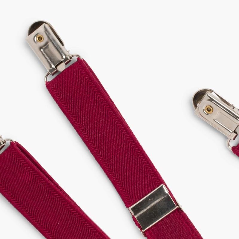 Braces for Boys Burgundy
