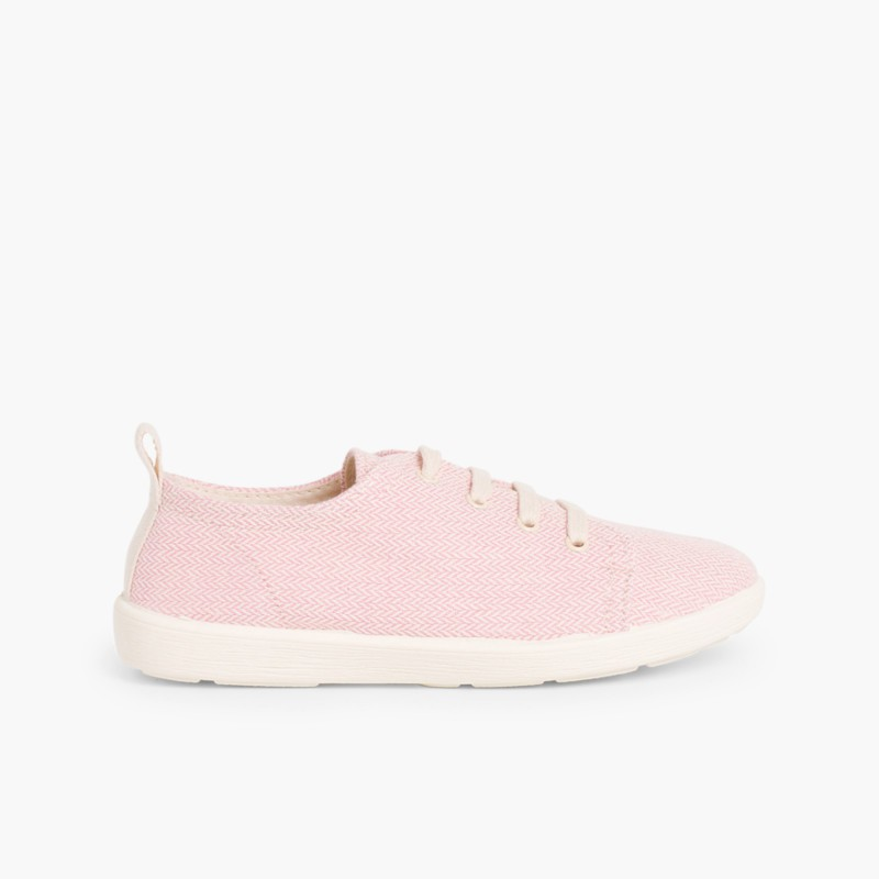 Casual Canvas Shoes Pink