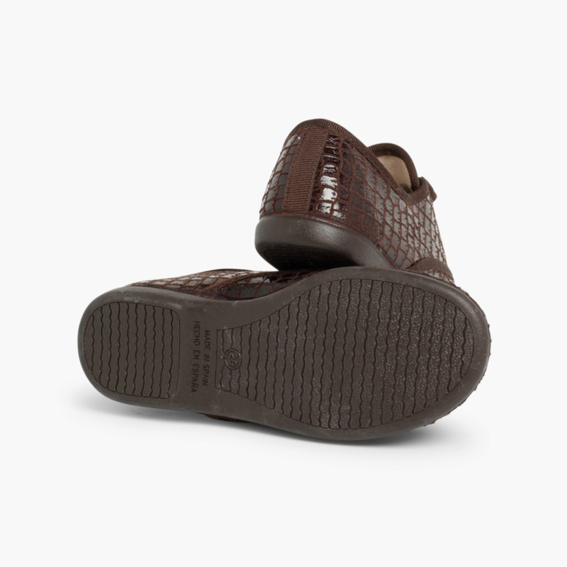 Coco Blucher Shoes for Girls and Women Brown