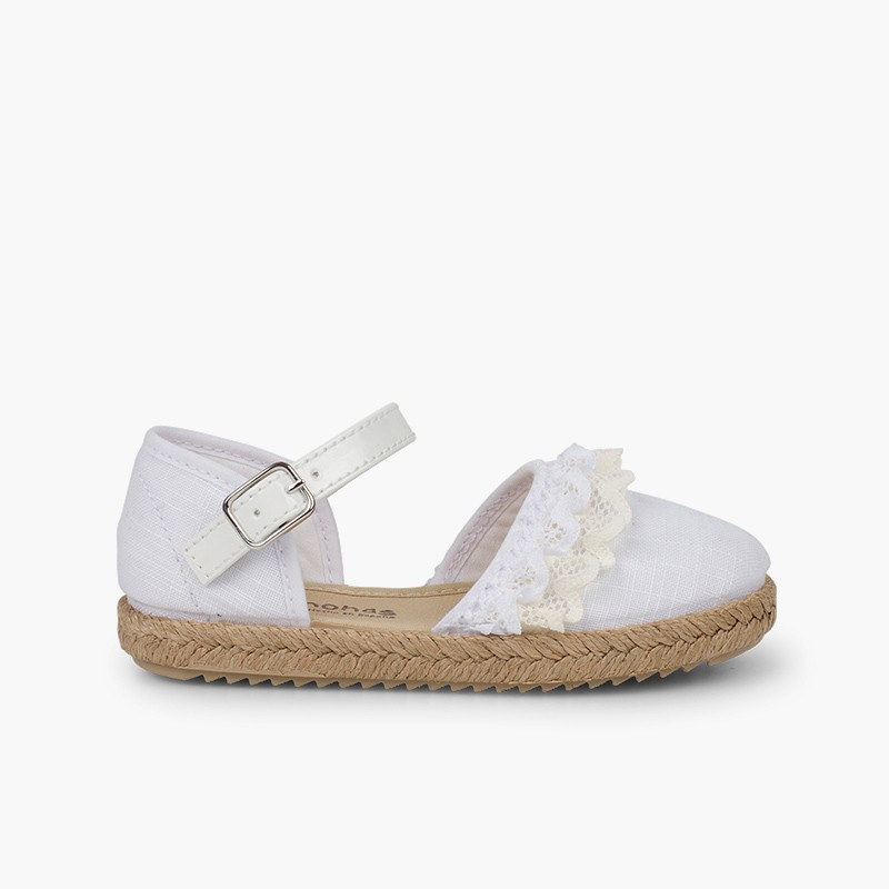 Espadrilles with Lace