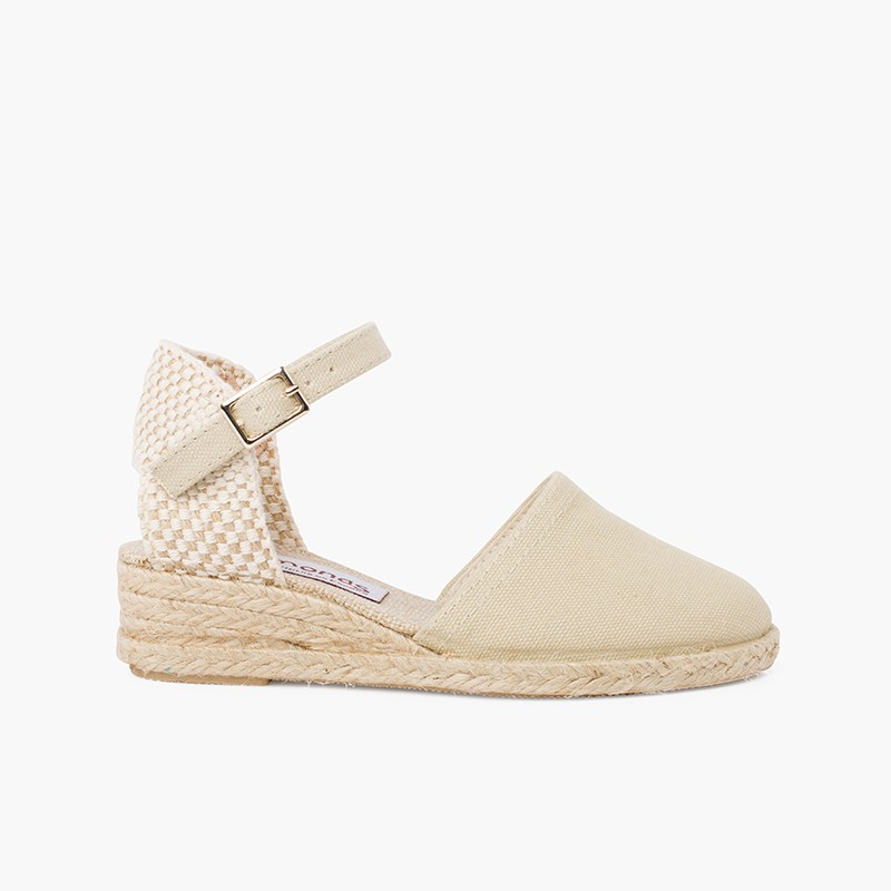 wedge espadrilles with buckle for girls