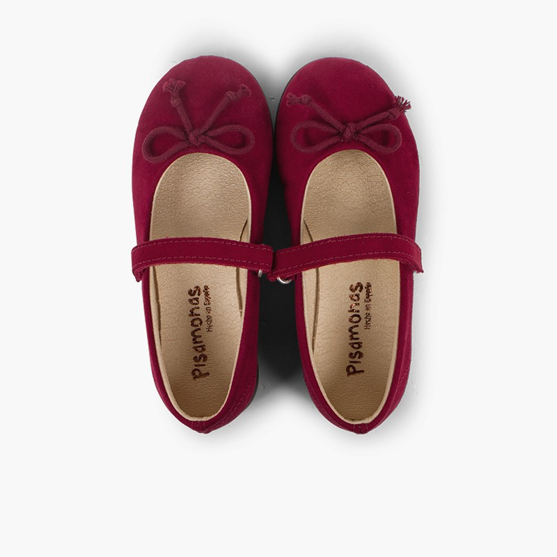 Ballet Flats with loop fasteners and Mary Jane-Style Bow