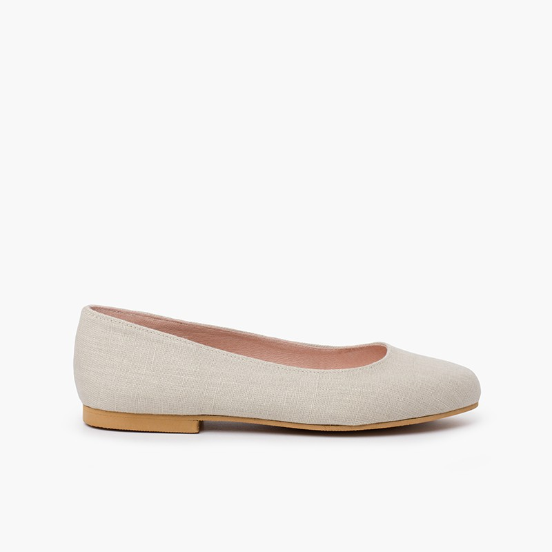Party Linen Ballet Flats for Girls and Women