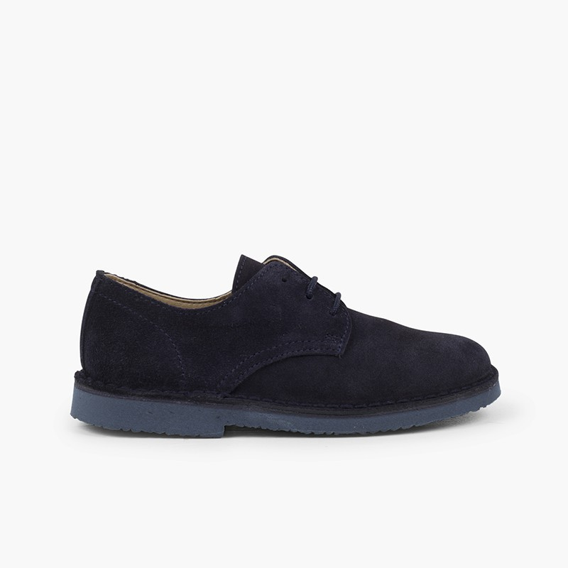 Plain suede bluchers boy's formal shoes