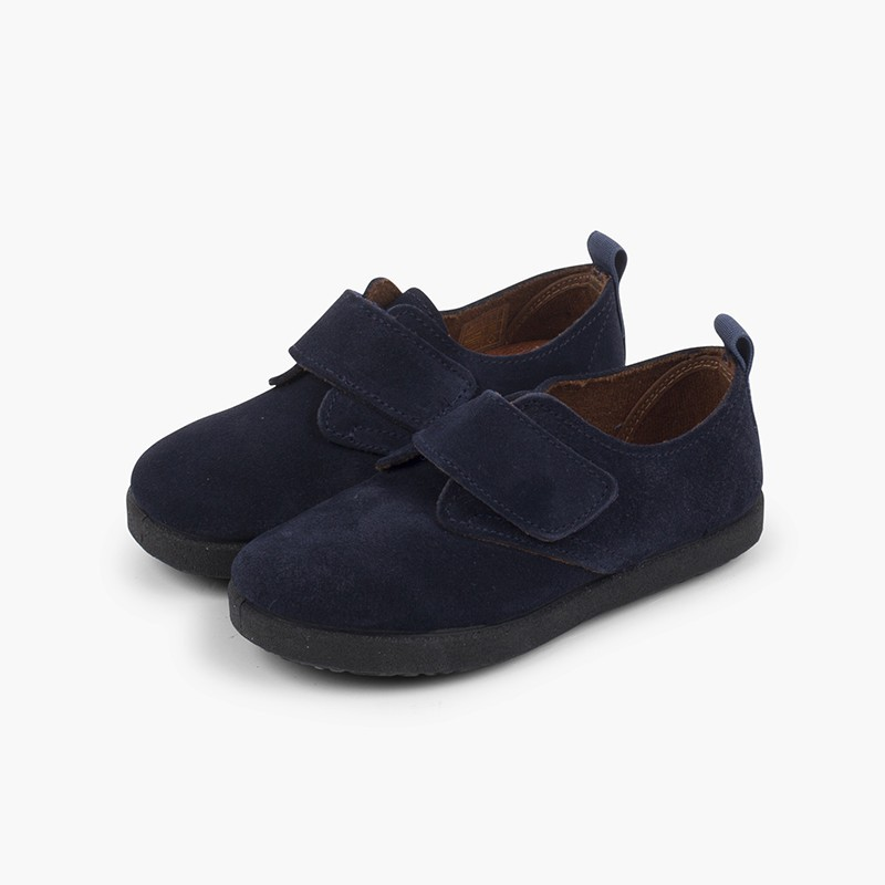 Casual loop fasteners bluchers in suede