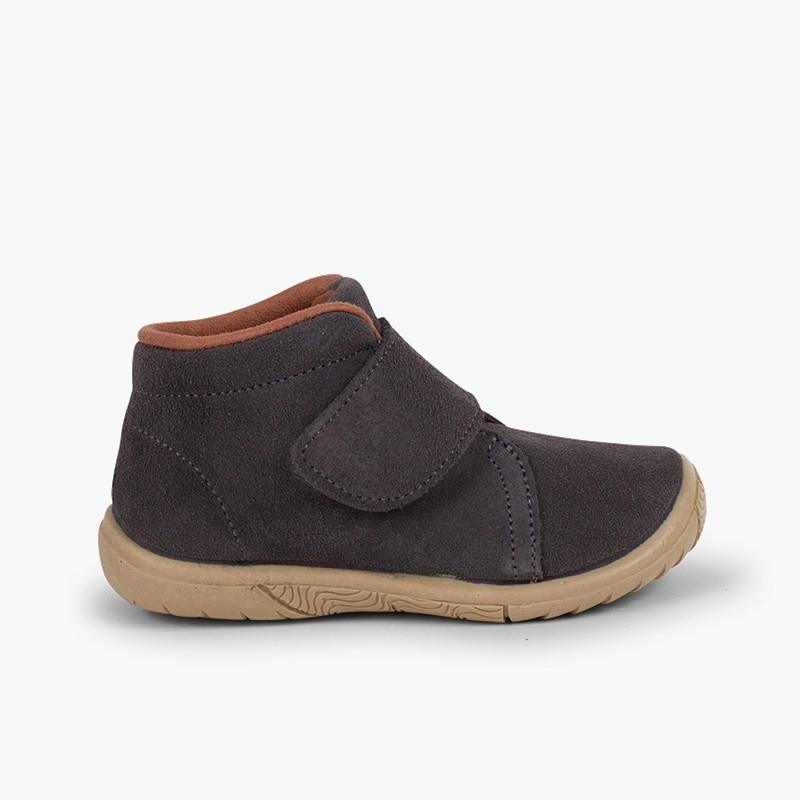 Suede loop fasteners Boots Reinforced Toe
