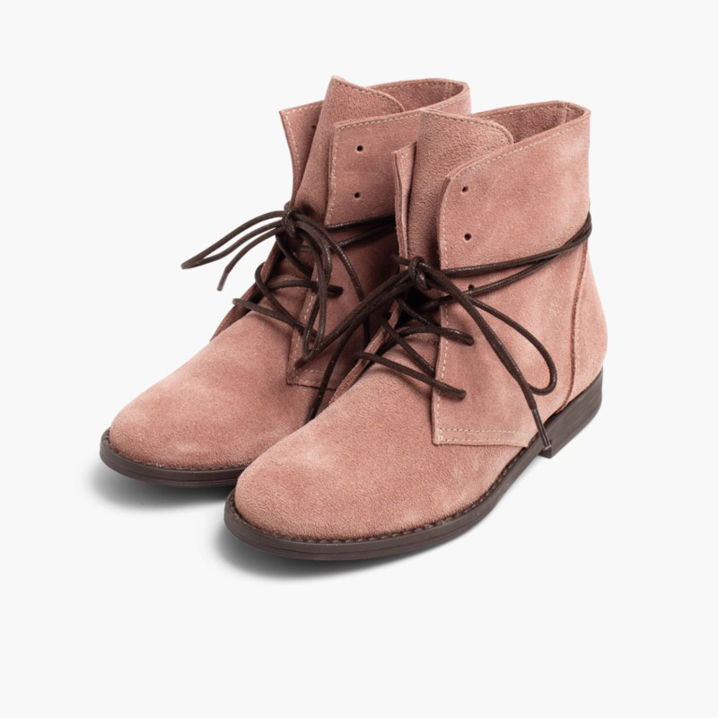 Boots Split Leather Waxed Laces