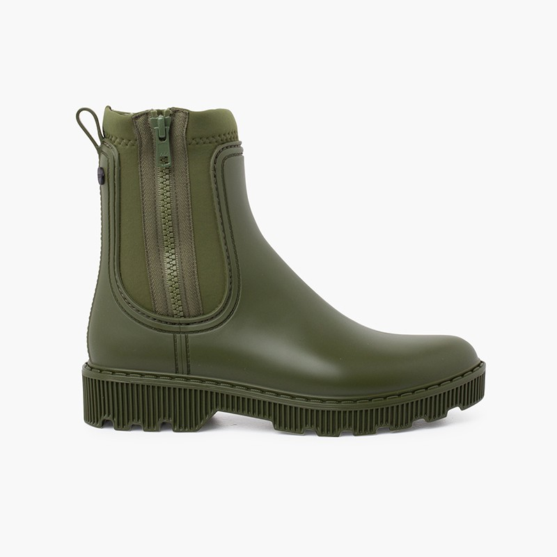 Kids and women ankle boots with side zipper